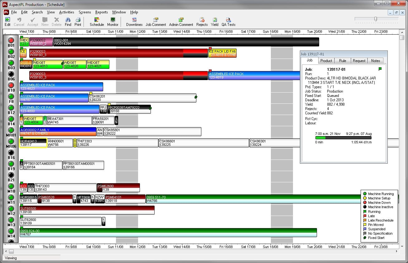 Live Scheduling - Drag & Drop Gantt Chart View