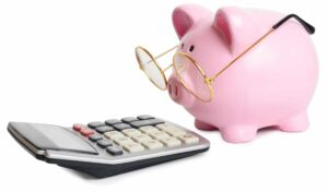 Piggy bank with glasses and calculator 300x176 - You don't need a software or lean consultant to help select and implement an MES